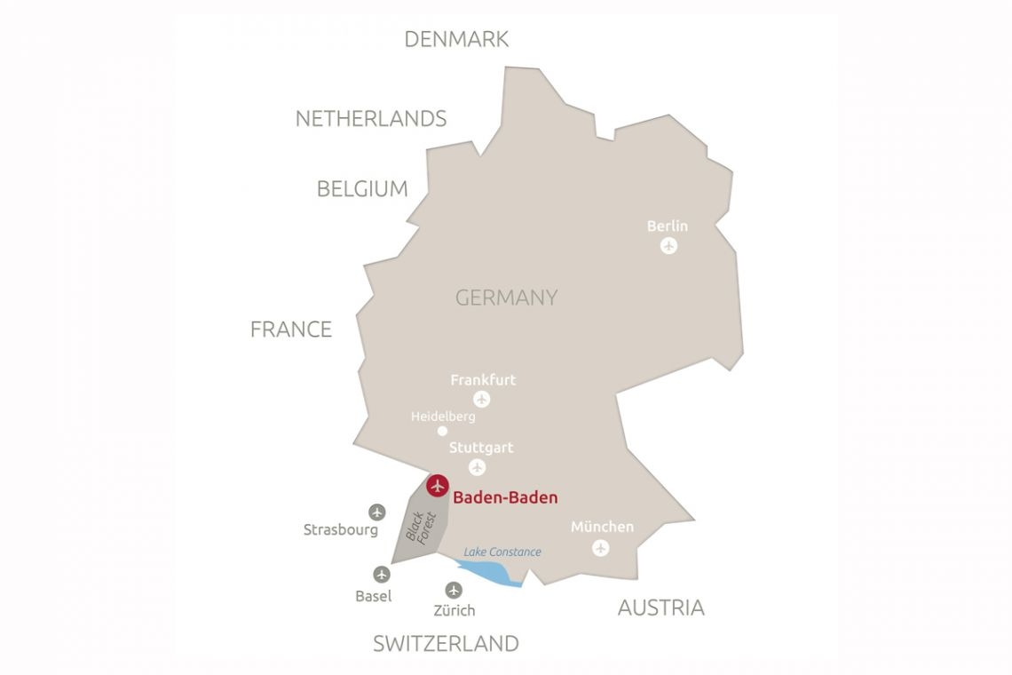 Map Of Germany Karlsruhe Baden.Getting There Exploring The City Baden Baden En